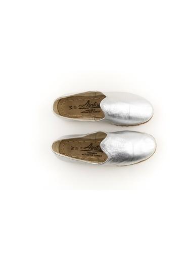 Aintap %100 Hakiki Deri Gümüş Kadın Spor Gaziantep Yemeni Gümüş